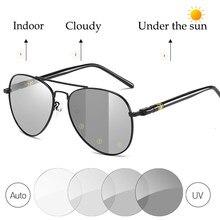 Pilot Photochromic Sunglasses Men Polarized Driving Chameleon Glasses Discoloration Sun Glasses Day&Night Vision Googles S161