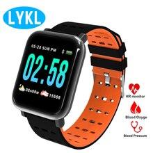 LYKL A6 наручные Смарт-часы активности Фитнес трекер Браслет монитор сердечного ритма крови Давление смарт-браслет для IOS Android