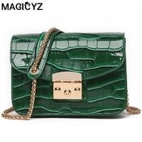 Alligator Crocodile Leather Mini Women Crossbody Bags Small Women Bag Sling Lady Messenger Shoulder Bag Purse