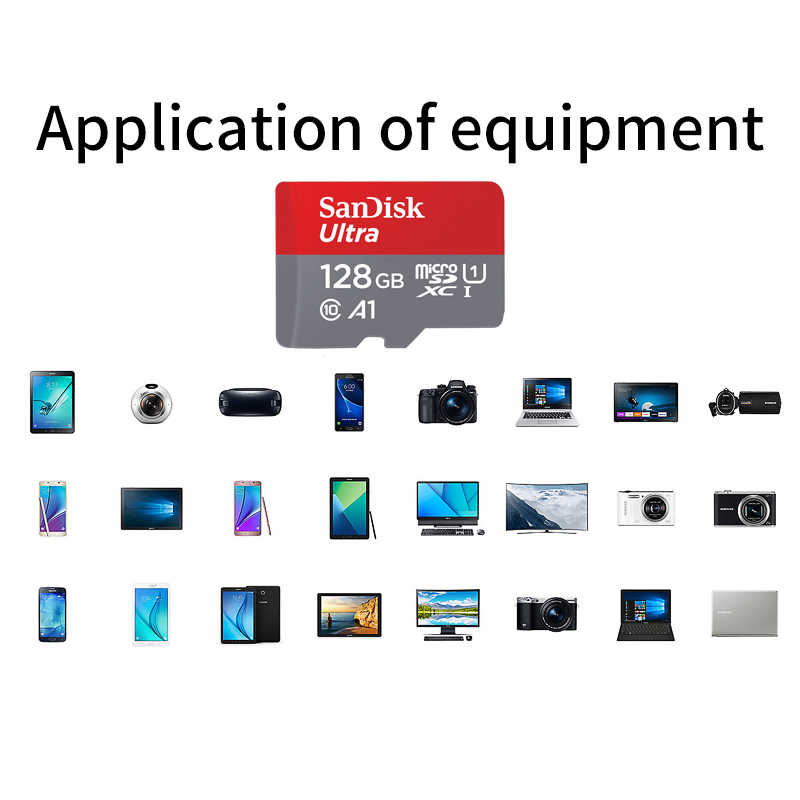 SanDisk MicroSD карта 32 Гб 64 Гб 128 ГБ 16 ГБ SDXC/SDHC класс 10 Флэш-карта памяти TF micro sd 32 Гб sdcard для смартфона/камеры