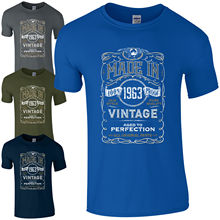 Made in 1963 T-Shirt Born 55th Year Birthday Age Present Vintage Funny Mens Gift Print T Shirt Short free shipng