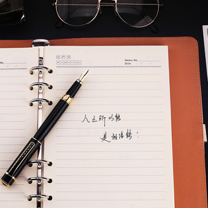 Image 5 - Hero 979 Square Cap Metal Fountain Pen Golden Plates Clip Iridium Fine Nib 0.5mm Fashion Writing Ink Pen for Office Business