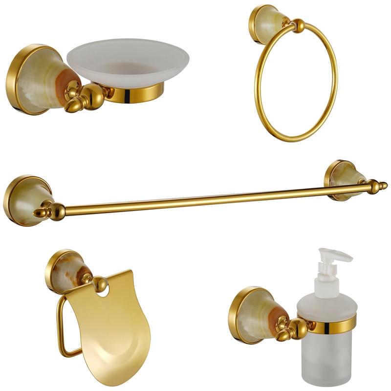 Luxury Crystal Bathroom Accessories Sets Gold USD304 ...