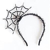 JEYL Hot Halloween Cosplay Spider Hair Hoop-New Trendy Spiders Web Headband Headdress Hallowmas Party Gift Black#2