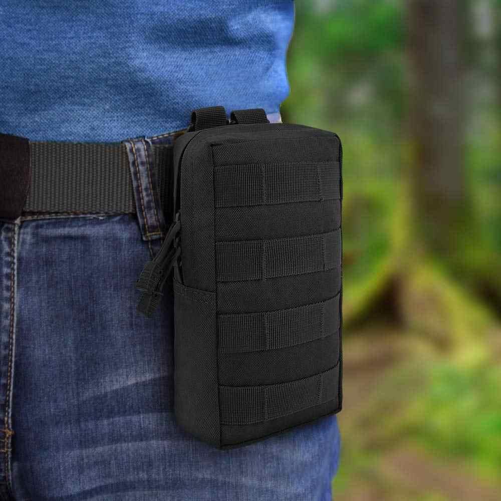 2 Pcs Bolsas Molle Tático Saco de Engrenagem Utility Pouch Gadget EDC Militar Pacote de Cintura Colete-resistente à Água Saco Compacto
