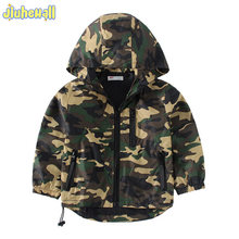 e2a1c7ac5e418 2017 New Children s Hooded Jackets Boy Girls Camouflage Zipper Windbreaker  Long Sleeve Casual Trench Baby Outdoor Coats CYB409