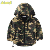 2017 New Children S Hooded Jackets Boy Girls Camouflage Zipper Windbreaker Long Sleeve Casual Trench Baby
