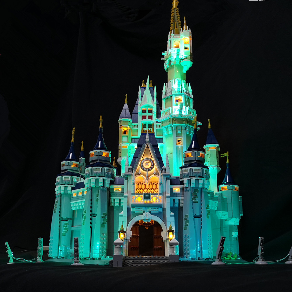 LED Light Kit (only light included) for lego 71040/ 16008 Cinderella Princess Castle blocks building ( the castle not included)