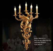 Vintage Wall Light Candle Luxurious Lamp For Hotel Villa Bedroom Bracket Lighting Sconces Lights