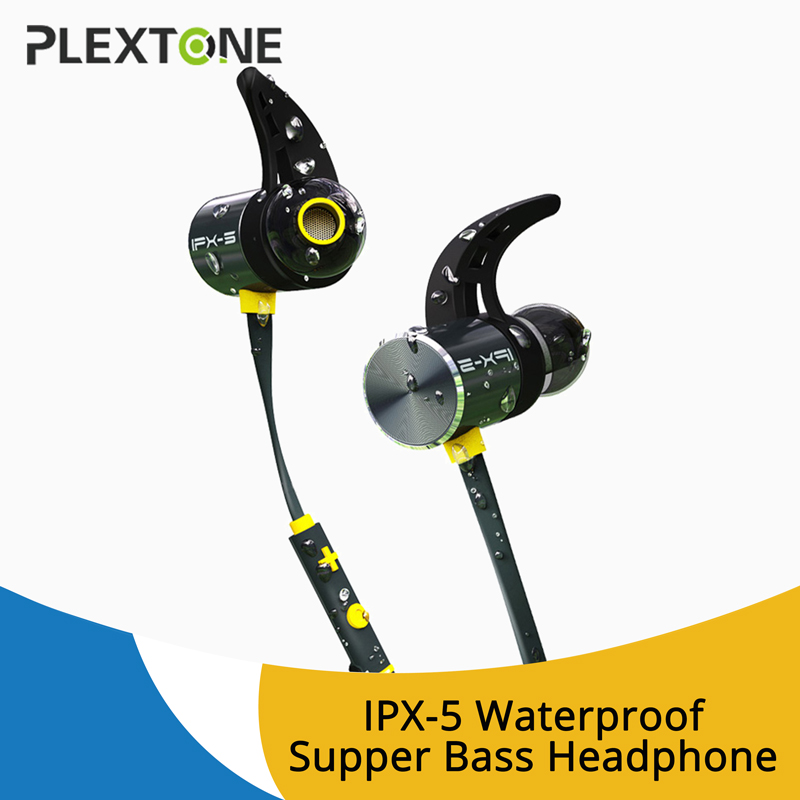 PLEXTONE BX343 Sports Wireless Headset Earphones In-ear wireless magnetic bluetooth headphones with mic Microphone Mini Earbuds coulax bluetooth headphones sports wireless headset ipx7 waterproof earbuds in ear earphones with mic sweatproof headphone cx36