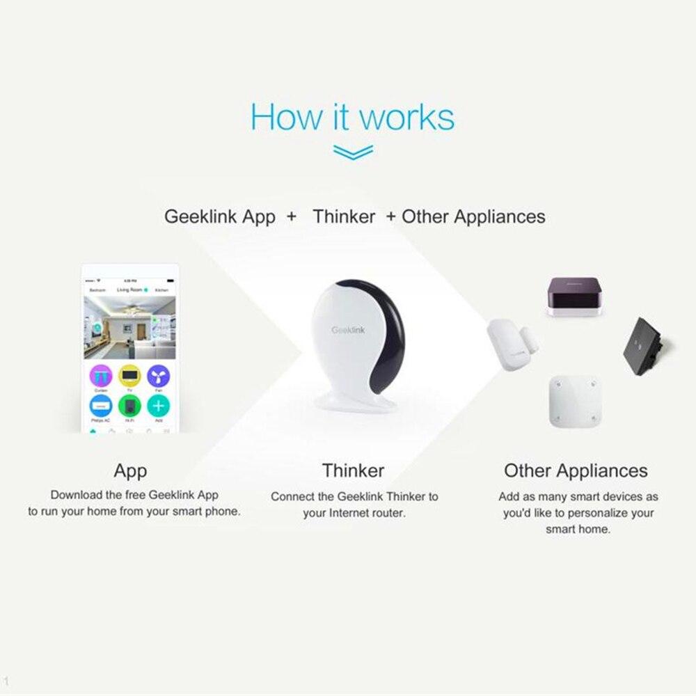 Geeklink Smart Home Automation Controller IFTTT WiFi IR RF Remote Control Center Voice Controller Work With Alexa Google Home - 4