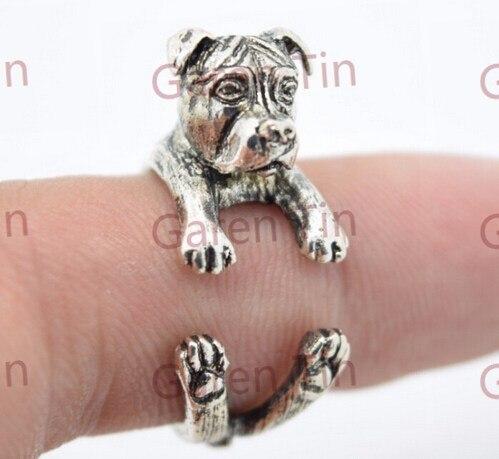 Питбуль Талисманы Кольца питбуль Обёрточная Бумага кольцо Pitbull Обёрточная Бумага кольцо Природные уши