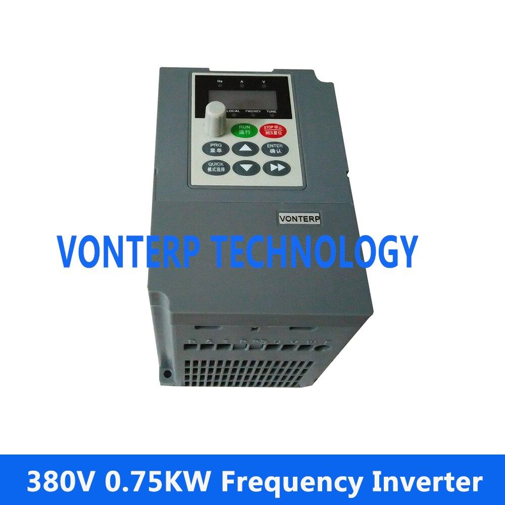 380V0. 75kw 2.3A variateur de Fréquence AC drive/Réglable de vitesse