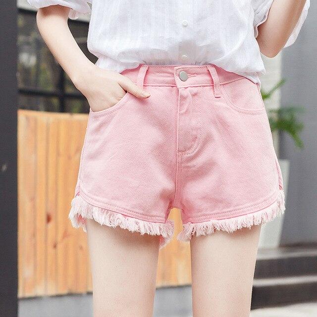 Nouvelles Femme Shorts jeans shorts Femme Coréenne Style Taille Haute Gland  Lâche Jeans D été 0e3107fe584