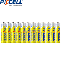 12PCS PKCELL NIMH Battery AAA 1000mah 1.2v  3A Rechargeable Battery NI MH  Batteries 1000 Circle For flashlight camera toys