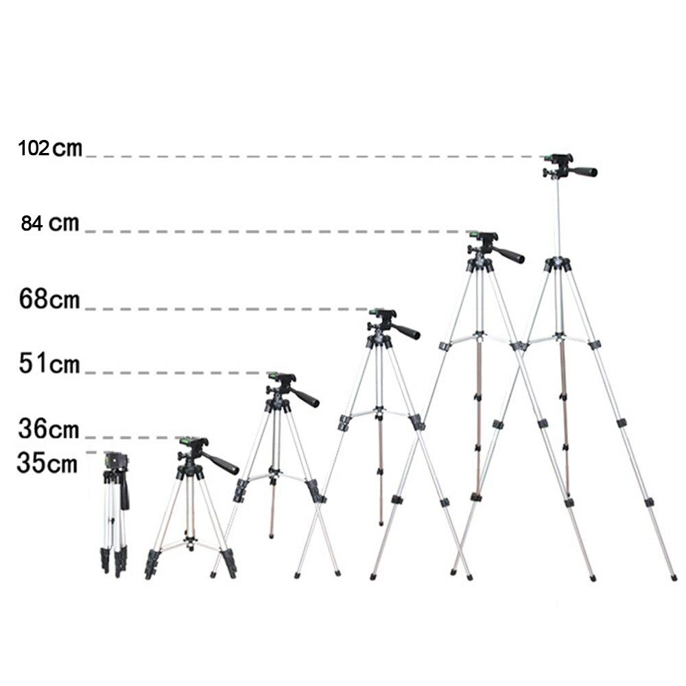 Многофункциональный Алюминий сплав штатив STB-3110 35-102 см Портативный легкий путешествия для верховой езды 3 секций стенд w/телефон болт крепления отверстие
