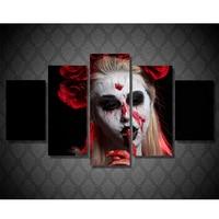 5 Pcs SetFull 3d Diy Diamond Embroidery Vampire Woman Rose Picture Of Rhinestones Diamond Mosaic Painting