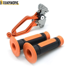 CNC Brake Clutch Levers CNC Pivot Handle Hand Grips For Dirt Bike KTM 125 200 200XC-W 125 144 SX EXC 250SX-F 2009- 2013