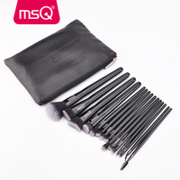 MSQ 15pcs Black Makeup Brushes Set Eye Shadow Foundation Powder Make Up Brushes pincel maquiagem Professional Cosmetic Tools