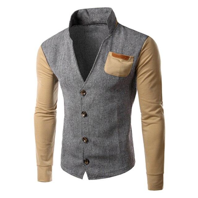 mens blazers coat  trench coat men Slim Fit Stylish Casual Button Suit Business Blazers Coat Jacket 3colors size M-XXL DM#6