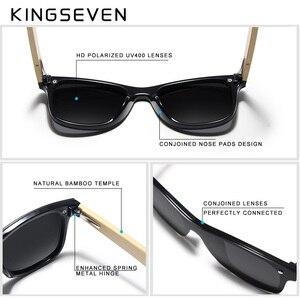Image 4 - KINGSEVEN 2019 prawdziwe bambusowe okulary przeciwsłoneczne drewniane spolaryzowane drewniane okulary UV400 markowe okulary przeciwsłoneczne drewniane okulary przeciwsłoneczne z drewnianym etui
