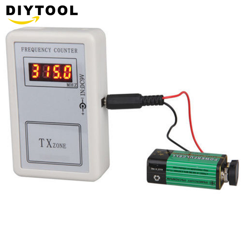 Remote Control Wireless Frequency Meter Counter For Car Auto Key Remote Control Detector Cymometer Power Supply Cable
