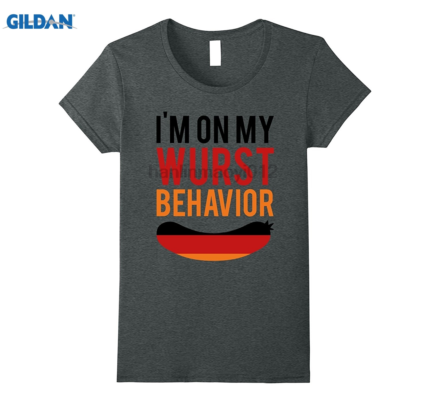 GILDAN Wurst Behavior Oktoberfest T-Shirt - Funny German Gift Tee sunglasses women T-shi ...