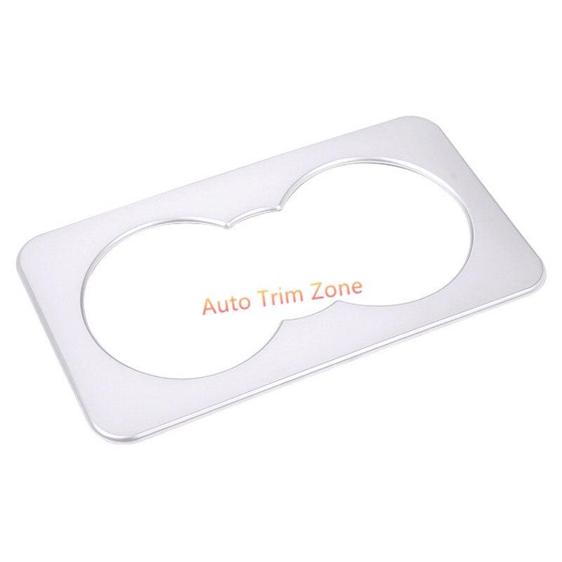 ABS Matt 1 PCS font b Interior b font Rear Armrest Water Cup Holder Cover Trim
