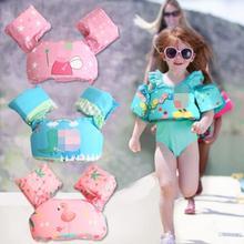 Плавательный бассейн и аксессуары для маленьких мальчиков и девочек, нарукавники для плавания, круг, бассейн, надувное кольцо в виде фламинго, поплавок для детей 0-1-3-7 лет
