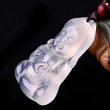 High Quality Unique Natural agate 2836 Carved Lucky Amulet Pendant Necklace For Women Men pendants Jade Jewelry