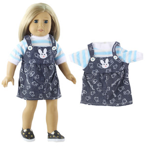 Image 3 - 5 Set Doll Clothes For 18 Inch American Doll Doll Handmade Casual Wear