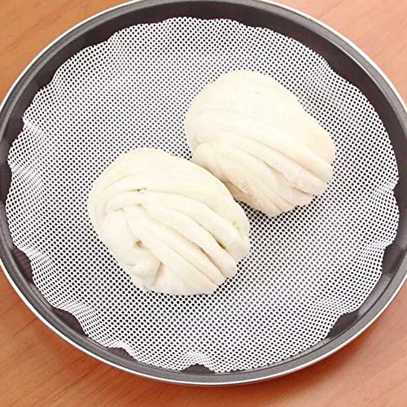 Round Silicone Eco-friendly Steamer Pad Steamed Stuffed Bun Bread Pad Household Steamer Steamed Dumplings Mat