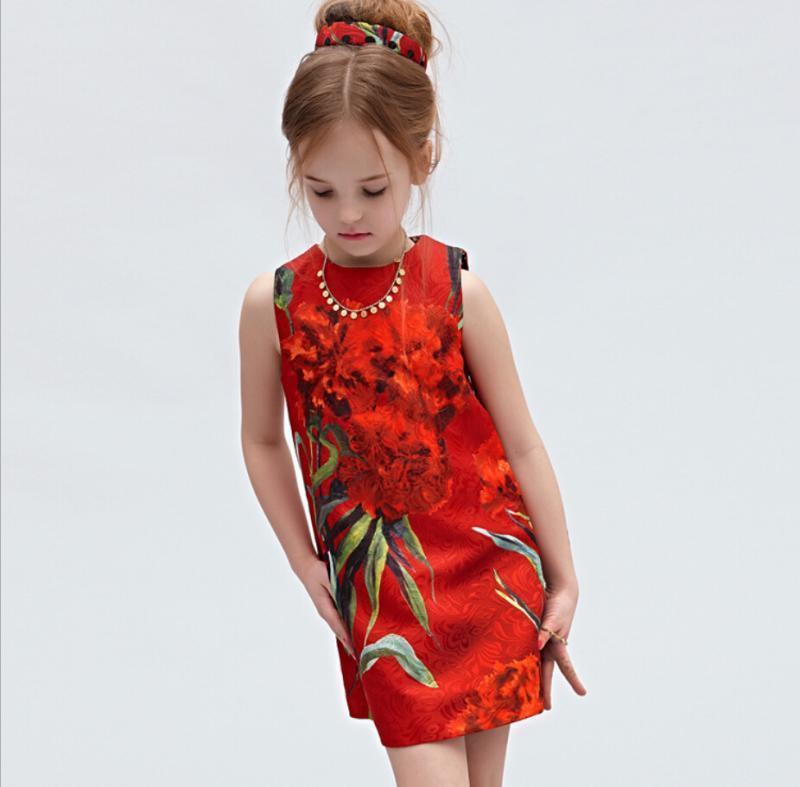 Mädchen Baumwolle Kleid Nelken Floral Marke All Season Prinzessin - Kinderkleidung - Foto 5