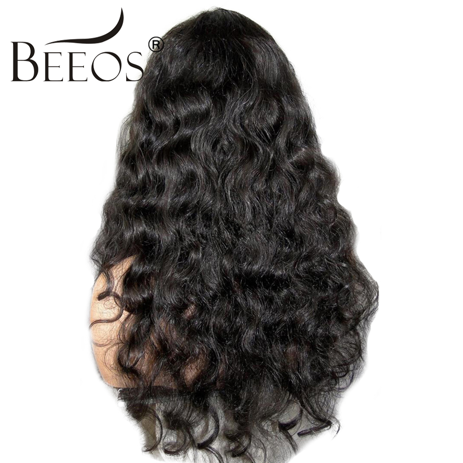 BEEOS 150% Density Curly Human Hair Lace Front Wigs Black Women With Baby Hair Remy Brazilian Lace Wigs Pre Plucked Average Cap