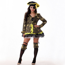 Free shipping European and American movies pirate adut Halloween costumes pirates cosplay costume dress for women
