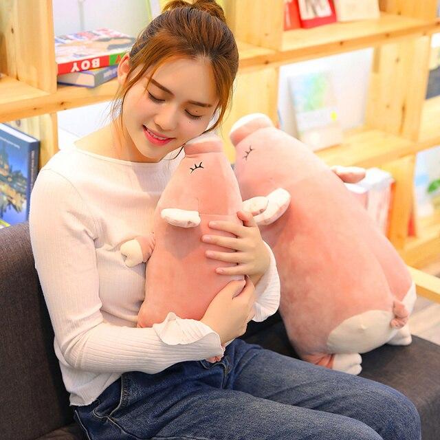 MIAOOWA 1 PC 40-80 CM Adorável Porco Cor de Rosa Animais Boneca De Pelúcia Bonito Brinquedo porco de Pelúcia Travesseiro Macio Almofada Kawaii Crianças Aniversário Do Bebê presentes