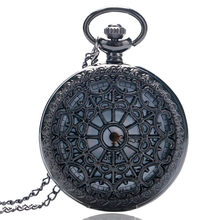 53dc5c8ee2c Oco Teia de aranha Mulheres Homens Steampunk Antique Bronze Quartzo Relógio  de Bolso Colar Vintage Pingente