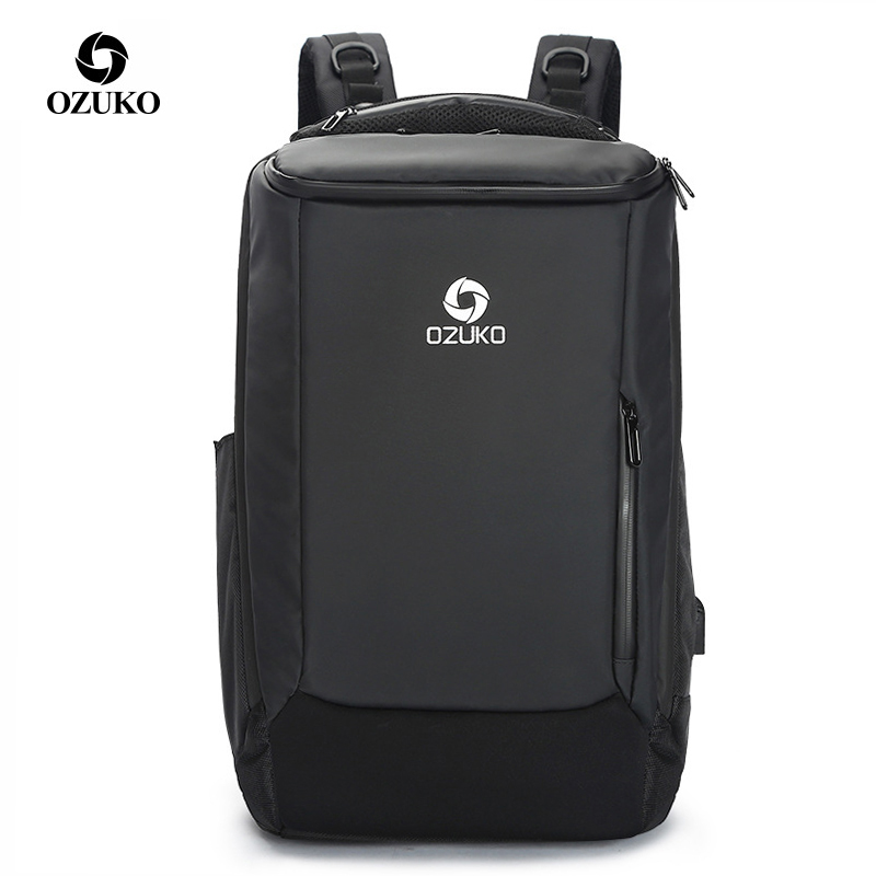 OZUKO marque hommes sac à dos 15.6 17 pouces ordinateur portable Anti-vol étanche USB charge loisirs voyage sacs à dos sac grande capacité mâle
