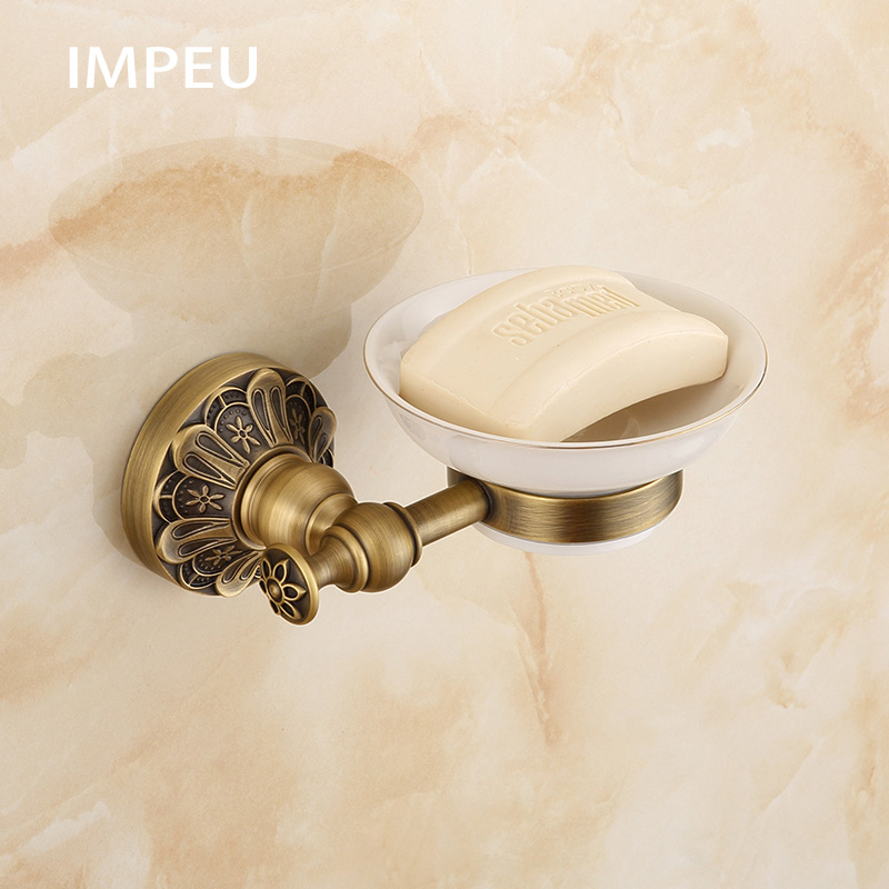 Brass Round Shape Wall Mounted Soap Holders Soap Dish Bathroom Accessories and Kitchen Accessories European Hotel