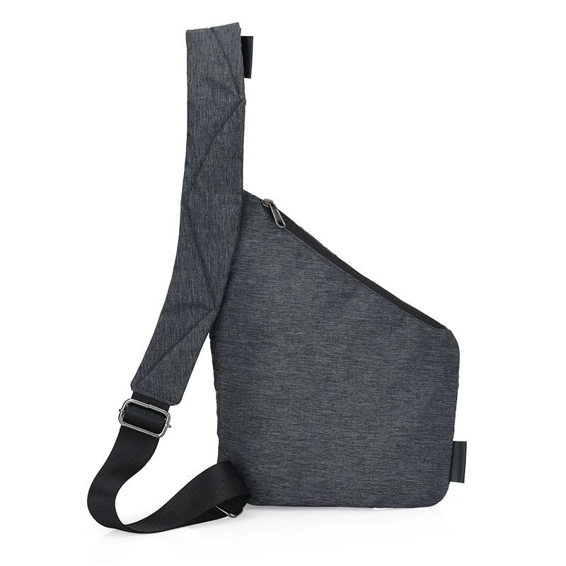 digital sacolas de nylon crossbody Feature 1 : Black Single Shoulder Bags