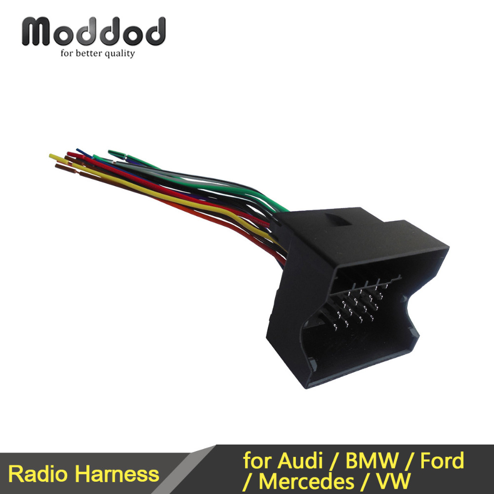 medium resolution of radio adapter wire harness connector for bmw audi vw mercedes cars wiring cable adapter