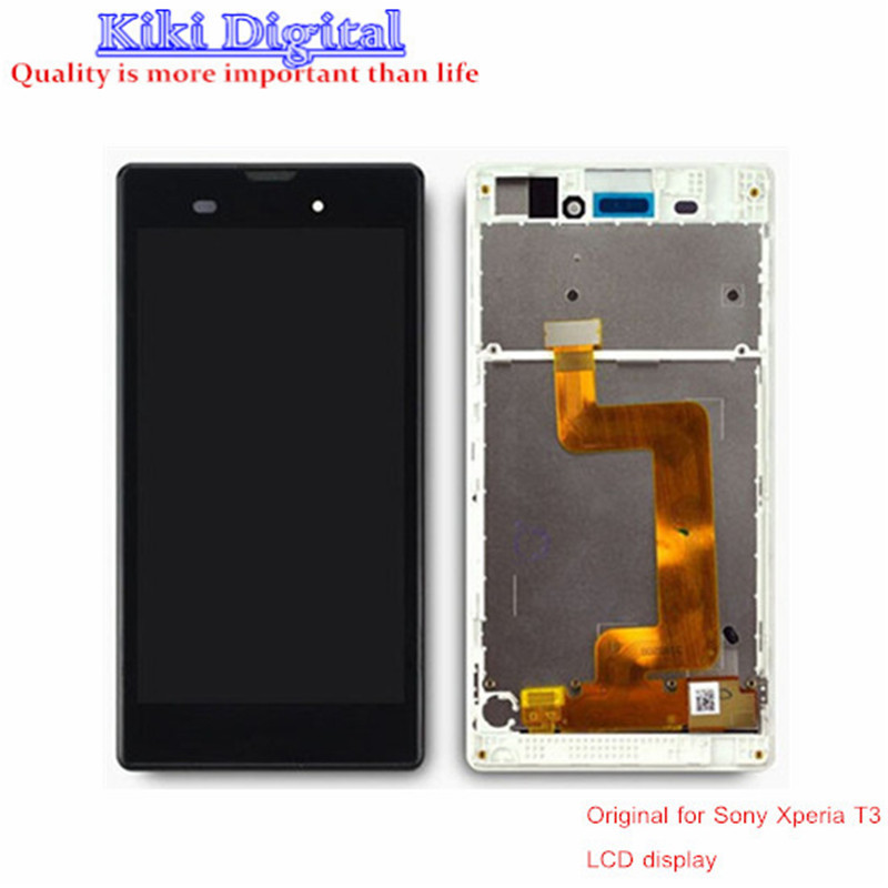 100 Original quality LCD For Sony Xperia T3 M50W LCD Display Touch Screen with frame Assembly