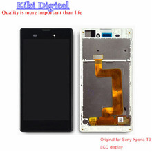 100% Original quality LCD For Sony Xperia T3 M50W LCD Display Touch Screen with frame Assembly free shipping