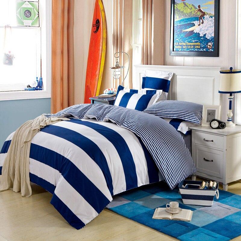 Modern Simple Design Navy Blue Stripe Mens Bedding Set Queen   King Size  Bed Linens Duvet. Online Get Cheap Mens Bedding  Aliexpress com   Alibaba Group