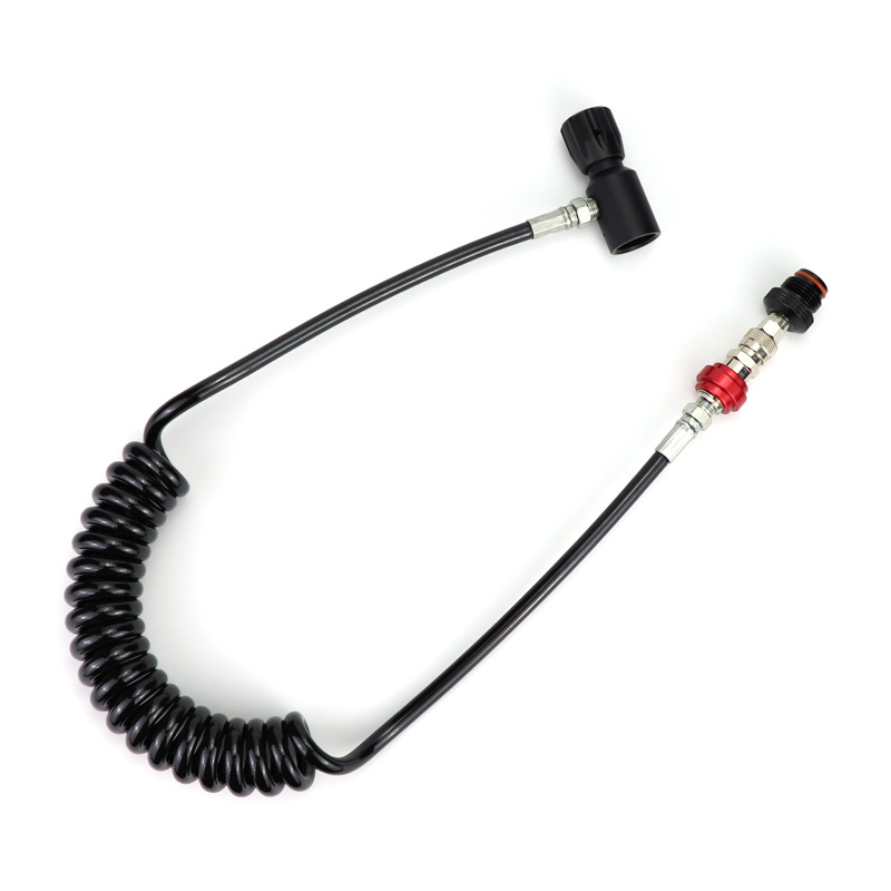 New Paintball Air Gun Airsoft PCP Air Rifle Coil Remote Hose 2.5M With Slide Check Quick Disconnect Acessorios