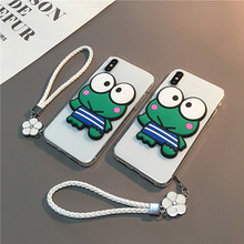 Cute Cartoon 3d Silica Frog Phone Cover Case For Iphone X 11 pro Xs Max Xr 10 8 7 6 6s Plus Luxury Soft Silicone Coque Fundas