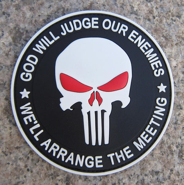 GOD WILL JUDGE OUR ENEMIES Punisher DEVGRU Navy Seals PVC Hook/&Loop Patch