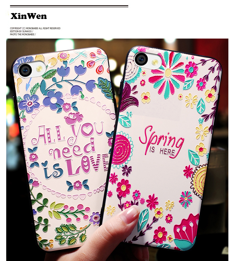 XinWen coque cover case For apple iphone4 iphone 4 4s s silicone tpu 3d Relief Soft