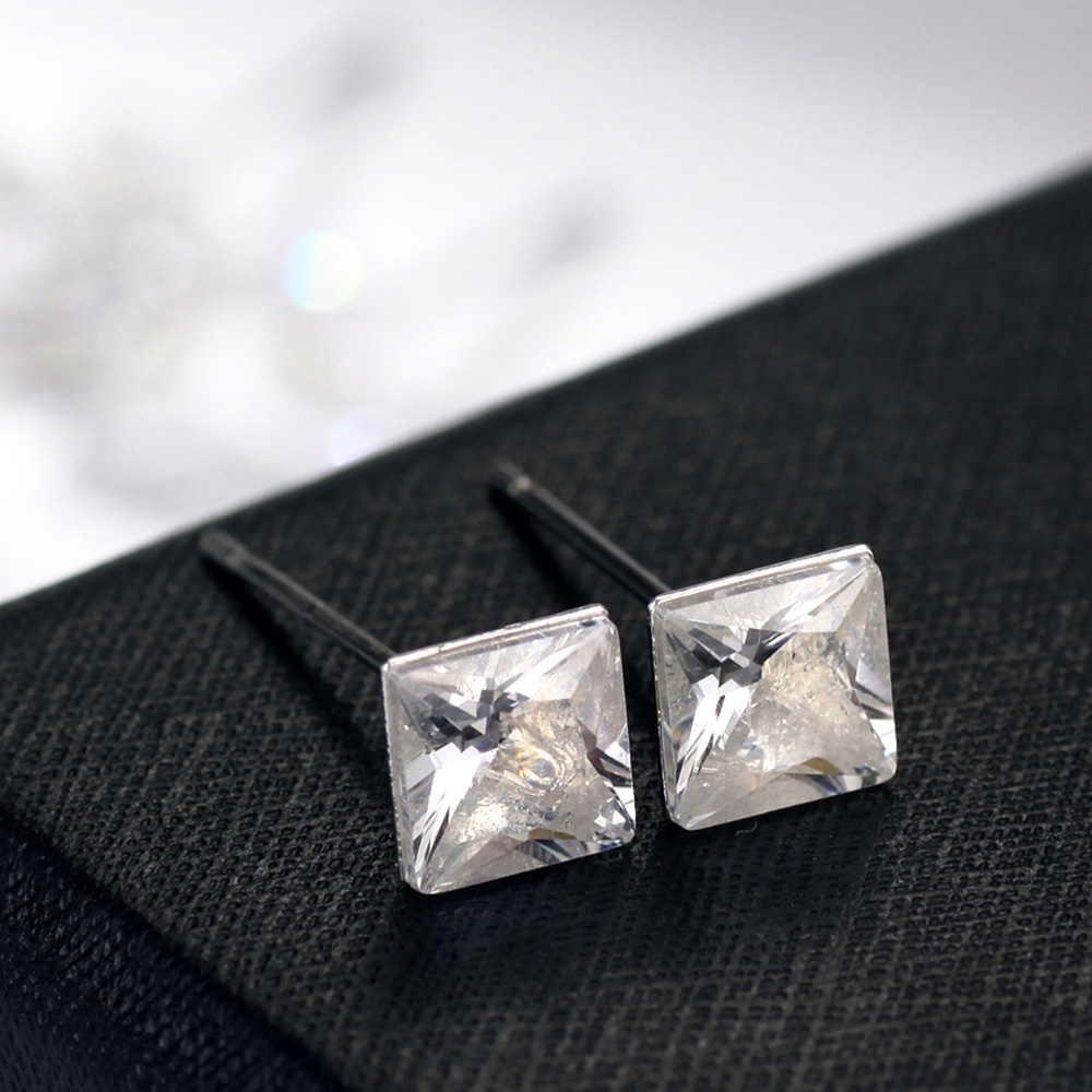 Neoglory Silver Color Plated Small Five White Stud Earrings Set for Women Teens Girls Brand Fashion Jewelry 2018 New FA