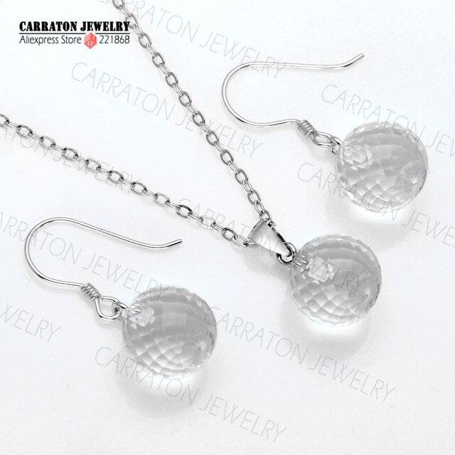 Genuine 925 Sterling Silver Bridal Jewellery Earring Set Dazzling Cystal Jewelry Sets